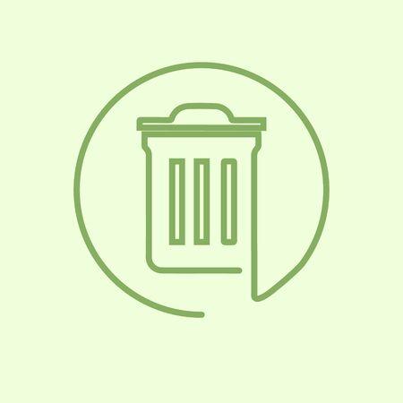 Trash Recycle Bin Garbage logotype