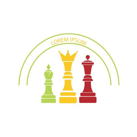 chess game logo vector. chess match symbol icon Ilustracja