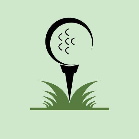 golf symbol icon vector illustration Çizim