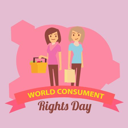 Vector Illustration Consumer Rights Day, banner, landing page