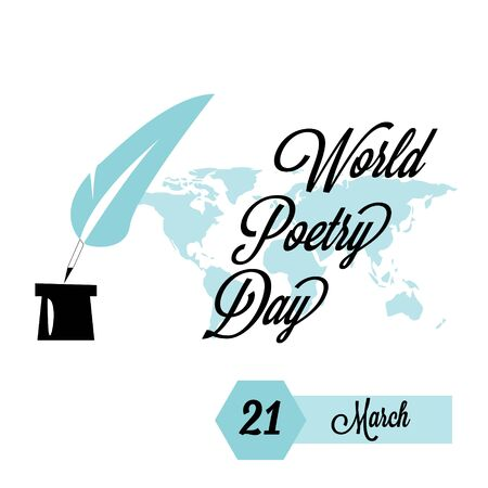 World Poetry Day logo icon design, vector illustration