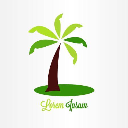 abstract green tree logo vector illustration. nature logo icon