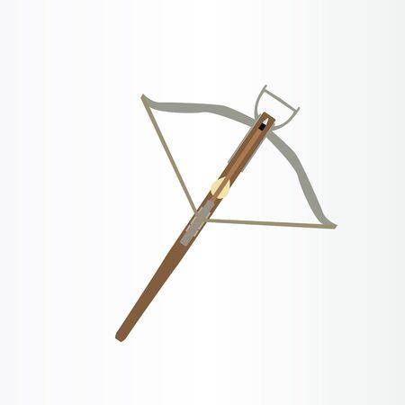 anime weapon logo vector illustration. blade, sword, kunai, arrow logo design template. sword logo Vettoriali
