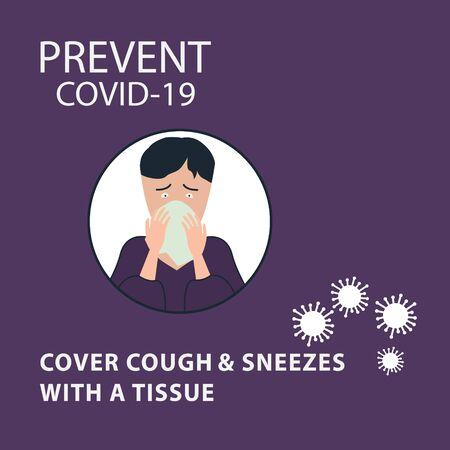Covid-19 Coronavirus concept inscription typography design logo. World Health organization WHO introduced new official name for Coronavirus disease named COVID-19, dangerous virus vector illustration