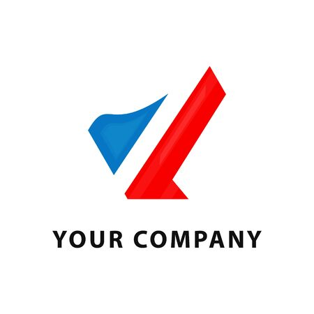 Abstract Blue and Red Business Logo