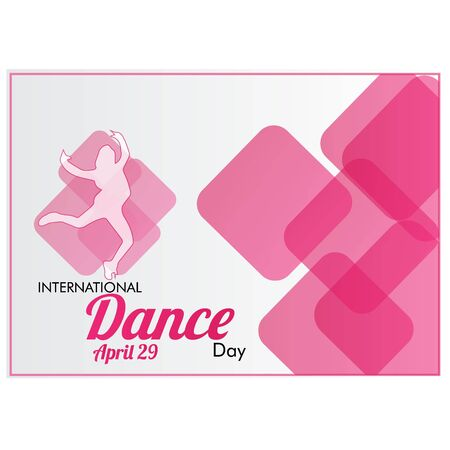 Dance Day, creative banner or poster for World Dance Day with nice and creative design illustration.