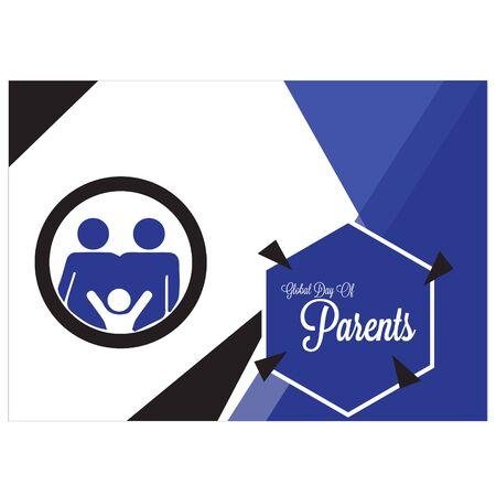 Happy Global Parents Day Logo Vector illustration. design Template. banner. background.poster.