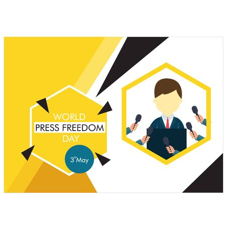 World Press Freedom day vector illustration. background.banner.poster Vectores