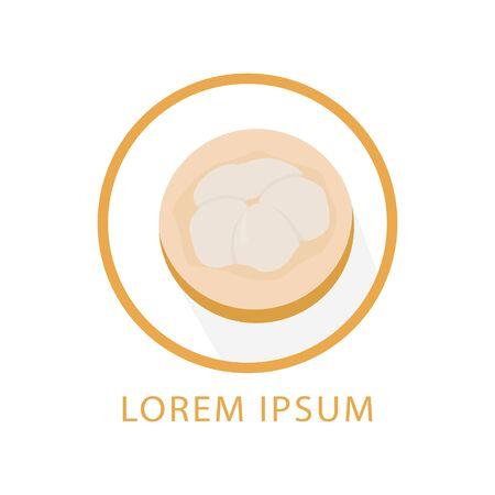 lute fruit logo vector. indonesian fruits Иллюстрация