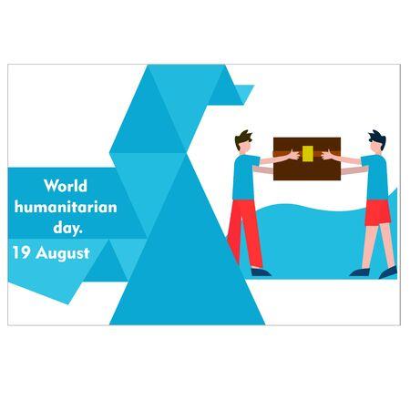 World Humanitarian Day Vector Design Template. illustration. background