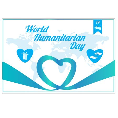 World Humanitarian Day Vector Design Template. illustration. background Vecteurs