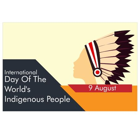 International Day of the World's Indigenous Peoples design template. background. vector illustration