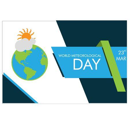 world meteorological day vector Illustration background 向量圖像