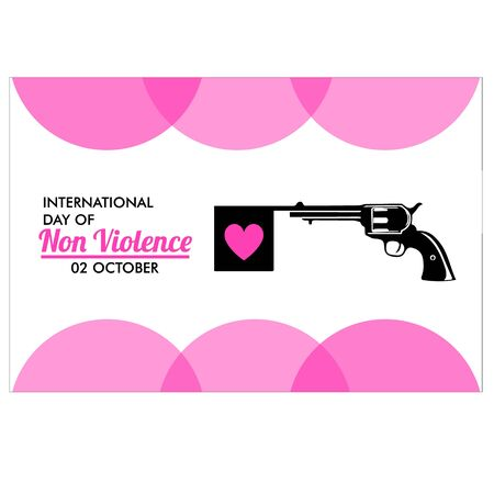 Illustration of international day of non violence on abstract background