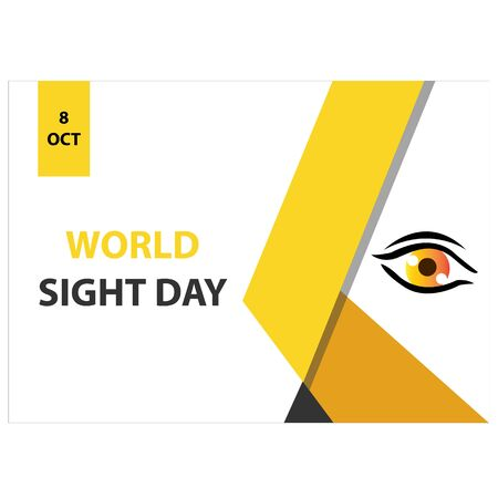 World Sight Day Vector Design Template. background illustration. banner, poster