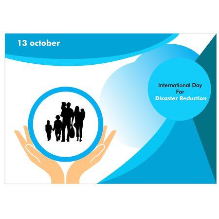 International Day for Disaster Reduction illustration background, October 13
