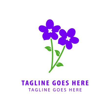 Vector of icon / violet. Flowers on a background. Business icon for the company cosmetics.This concept logo, label or badge for flower shops / salons. Other companies. Illustration.