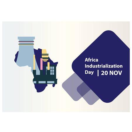 vector illustration of Africa Industrialization Day Background. banner