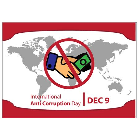 Vector illustration of a Background for International Anti Corruption Day. poster or banner