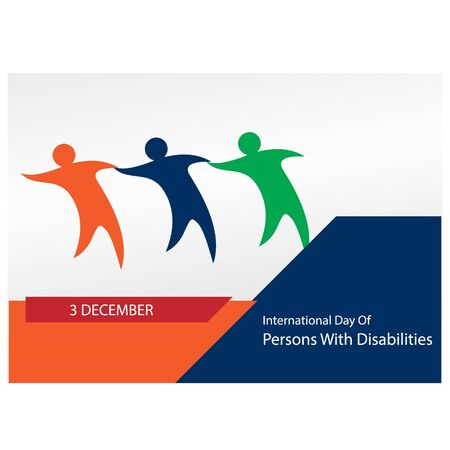 vector illustration for international day of persons with disabilities. background, banner, poster