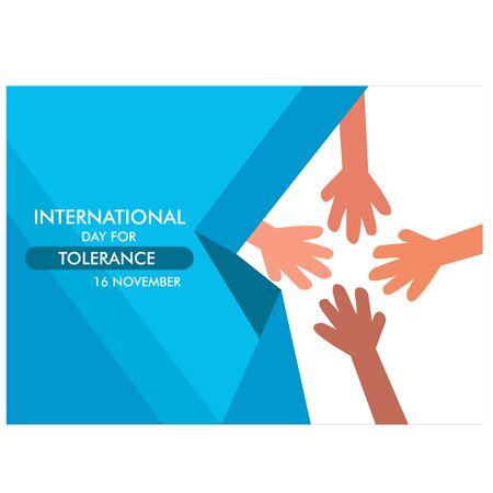 International Day for Tolerance Vector Illustration. background. banner