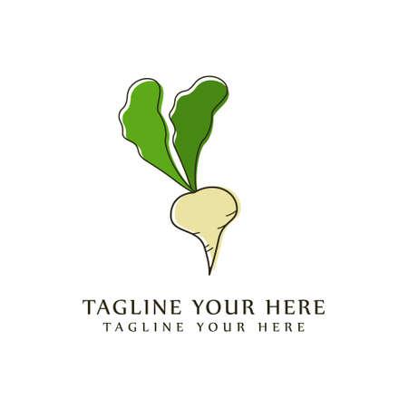 Radish flat icon vector, colorful radish logo illustration isolated on white background.