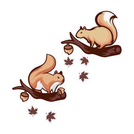 Squirrel Logo Design, Letter S Squirrel 矢量图像