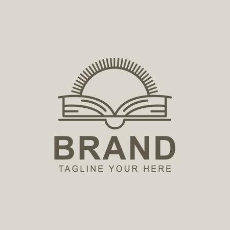 Creative Book Concept Logo Design Template