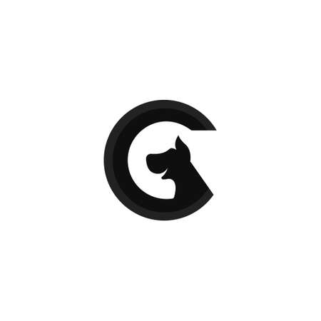 Letter G logo design in combination with dogs.