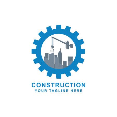 Creative Home Construction Concept Logo Design Template Stock Vector - 160958500