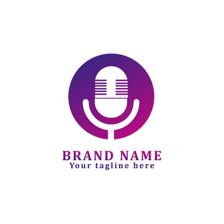 logo design for music or broadcasting related business. dancing microphone
