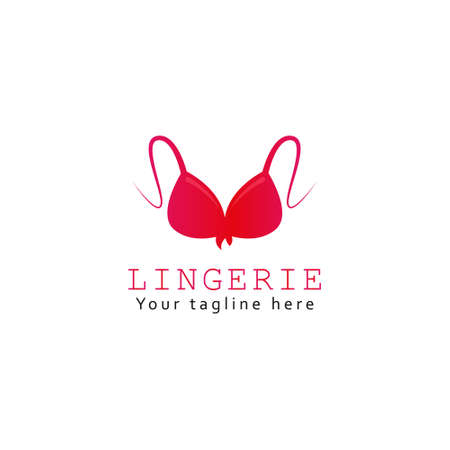 Lingerie lady bra Logo Vector Illustration Template