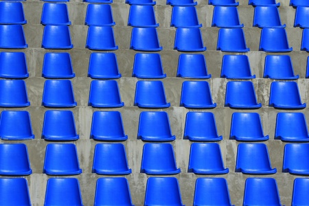 Chairs in the stands at the stadium  photo