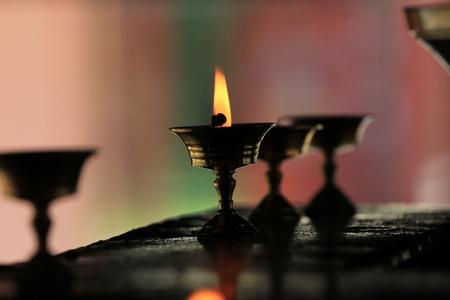 L�mparas en un templo budista  Foto de archivo - 10085002