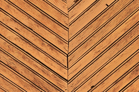 A fragment of wall of wooden slats  photo