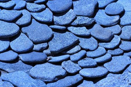 Natural stones are flat
