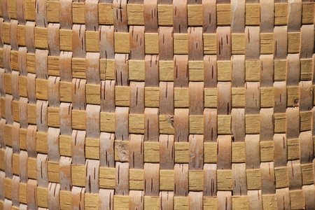 Wicker basket made of birch bark, background Stock Photo - 10981763