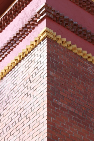 Corner brick building photo