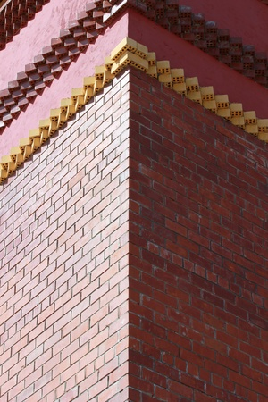 Corner brick building photo