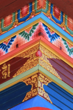 A bright piece of Buddhist ornament photo