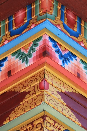 A bright piece of Buddhist ornament Stock Photo - 11576694