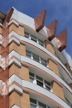 balcony window: A modern house, a fragment
