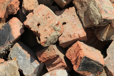housing lot: a pile of bricks
