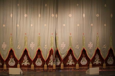 Scene, the curtain, spotlight