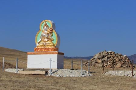 buryatia: The sculpture of the Goddess White Tara, Atsagatsky datsan, Buryatia Stock Photo