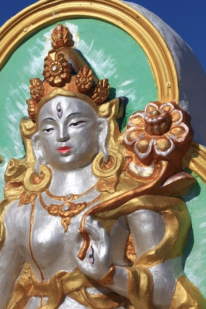 The sculpture of the Goddess White Tara, Atsagatsky datsan,\ Buryatia