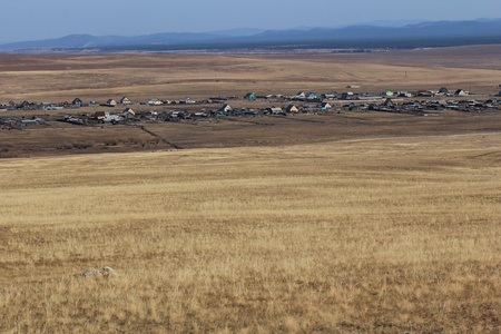 Steppe landscape, Transbaikalia photo