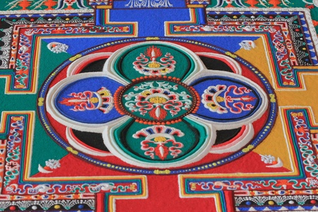 Sand mandala is a Buddhist temple