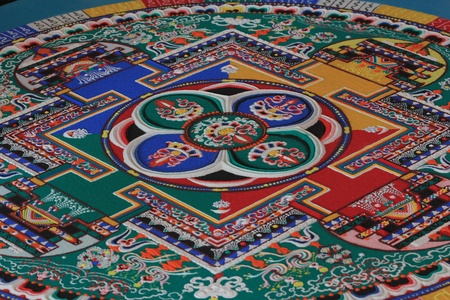 Sand mandala is a Buddhist temple