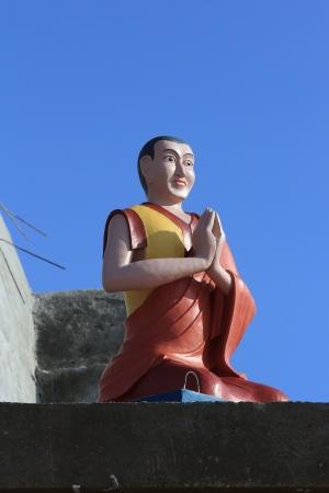 Sculpture of a Buddhist monk
